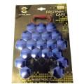 Синие хром колпачки Starleks на колесные гайки/болты 21