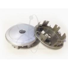Серебристая заглушка в центр литого диска D-64 Solomon