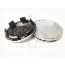 Серебристая заглушка в центр литого диска D-62мм (55мм) Vicom, Rapid, K&K