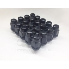 Черные гайки Starleks 6 граней 12-1.5
