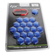 Синие колпачки TPI на колесные болты/гайки 17 C172218ABS/BL