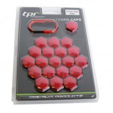 Красные колпачки TPI на колесные болты/гайки 17 C172218ABS/RD