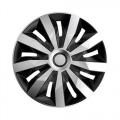 """Колпаки на штампованные диски ARGO Пента СЕРЕБРИСТО-ЧЕРНЫЙ R14 Penta Silver Black 14"""""""