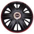 Колпаки колёсные Jacky J-tec МАКСИМУС черно-красные  /GTR/ R15
