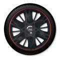 Jacky J-tec МАКСИМУС черные с красным  /GTR/ R16