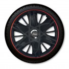 J-tec Колпаки на стальные диски Джаки J-tec МАКСИМУС черные с красным  /GTR/ R16