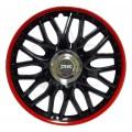 Колпаки колёсные Jacky J-tec Херо Hero черно-красные GTR R16