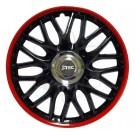 J-tec Колпаки на стальные диски Джаки J-tec Херо Hero черно-красные GTR R16