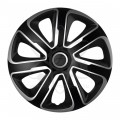 "Колпаки на штампованные диски ARGO Ливорно Livorno Carbon Silver Black 15"" R15"