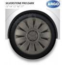 ARGO колпаки на штампованные диски АРГО СИЛЬВЕРСТОУН хром ДАРК R16