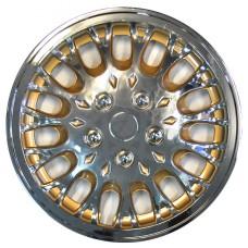 Колпаки колёсные SAAS R15 хром-золото (80-165C/GO) 17-053-054-0010