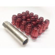 Красные гайки 12-1.25 (многогранные)