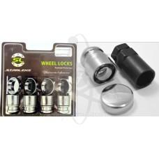Секретки (гайки)  Starleks C416445(33L)X 12х1.5x33 конус, вращ.кольцо,2 кл. 19-21мм, колпачки
