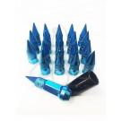 Синие бирюзовые голубые гайки пики пули Starleks высокие KK911942sd/BL (1/2UNF дюйм)