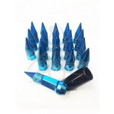 Синие бирюзовые голубые гайки пики пули Starleks высокие KK911945sd/BL(12-1.5)