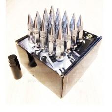 Хромированные гайки пики пули Starleks высокие KK911944sd/CR (12-1.25)