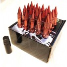 Красные гайки пики пули Starleks высокие KK911942sd/rd (1/2UNF дюйм)
