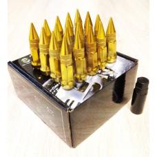 Золотые гайки пики пули Starleks высокие KK911944sd/GD(12-1.25)