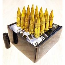 Золотые гайки пики пули Starleks высокие KK911945sd/GD(12-1.5)